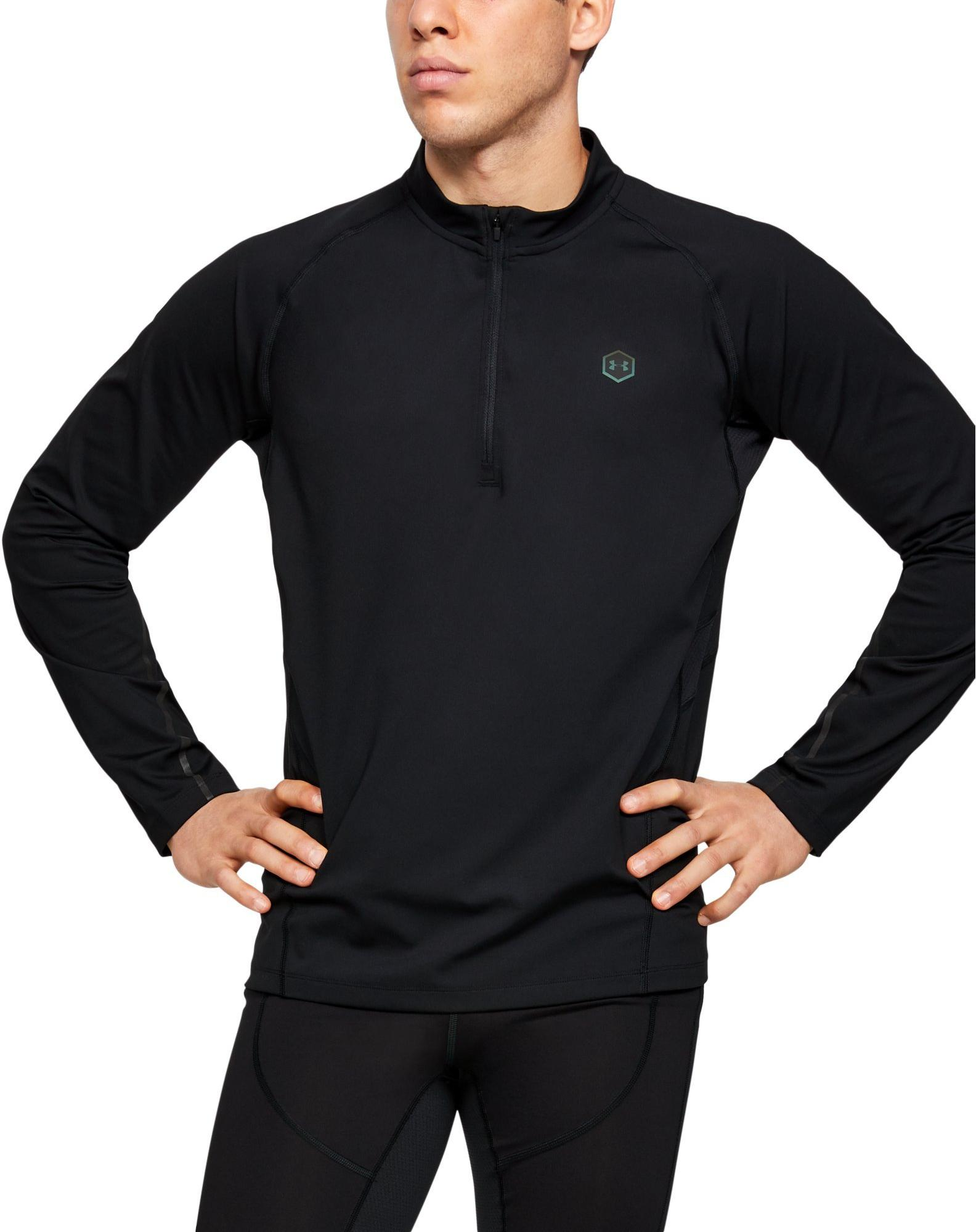 Tee-shirt à manches longues Under Armour UA RUSH RUN COLDGEAR HALF ZIP