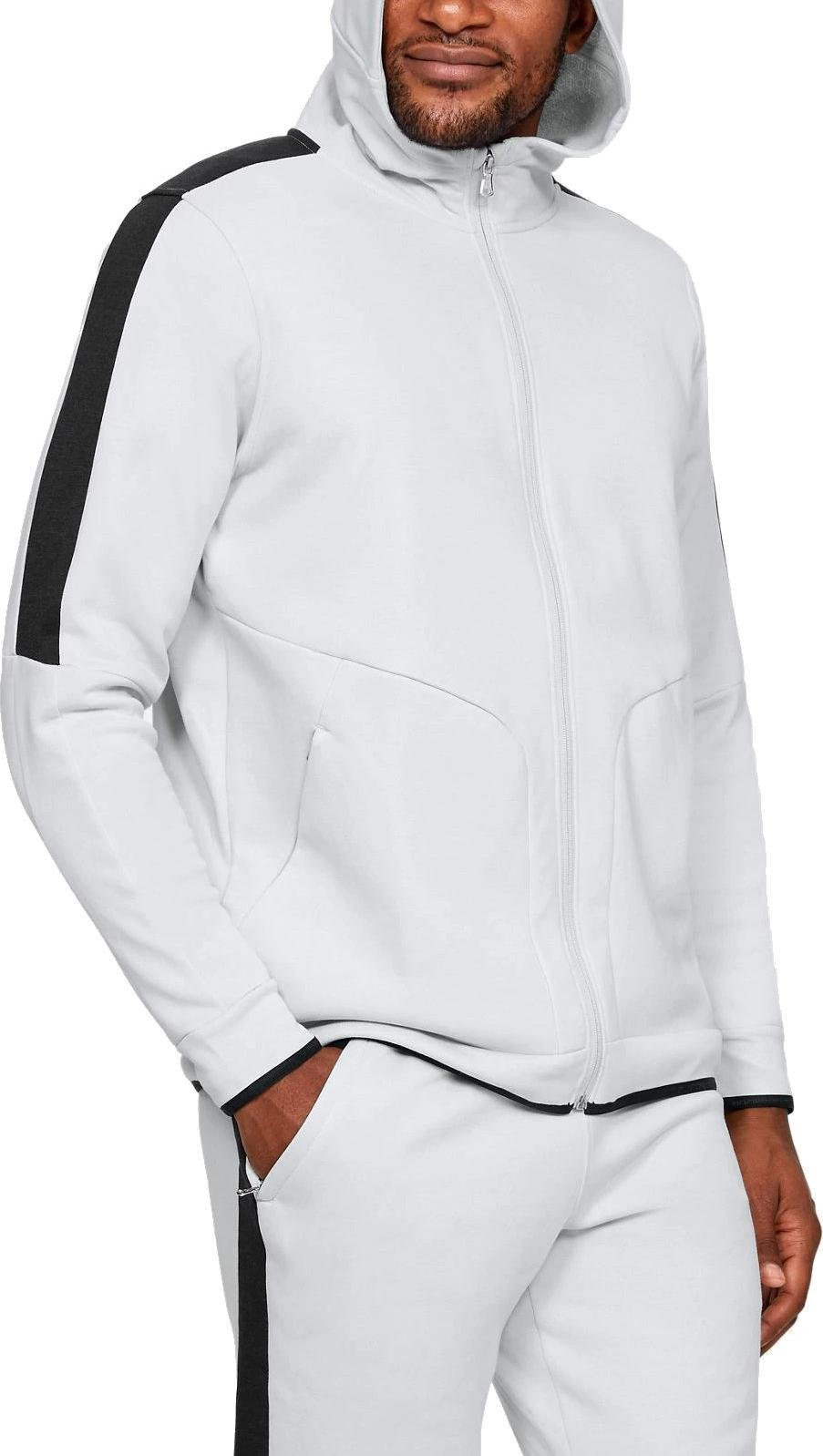 Sweatshirt à capuche Under Armour Athlete Recovery Fleece Full Zip